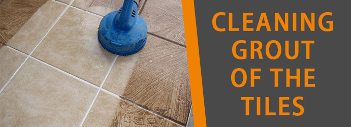 Cleaning grout of the tiles